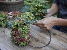 Wir binden einen Herbstkranz: Die Mischung macht's - Wohnen & Garten #grabbepflanzungherbst