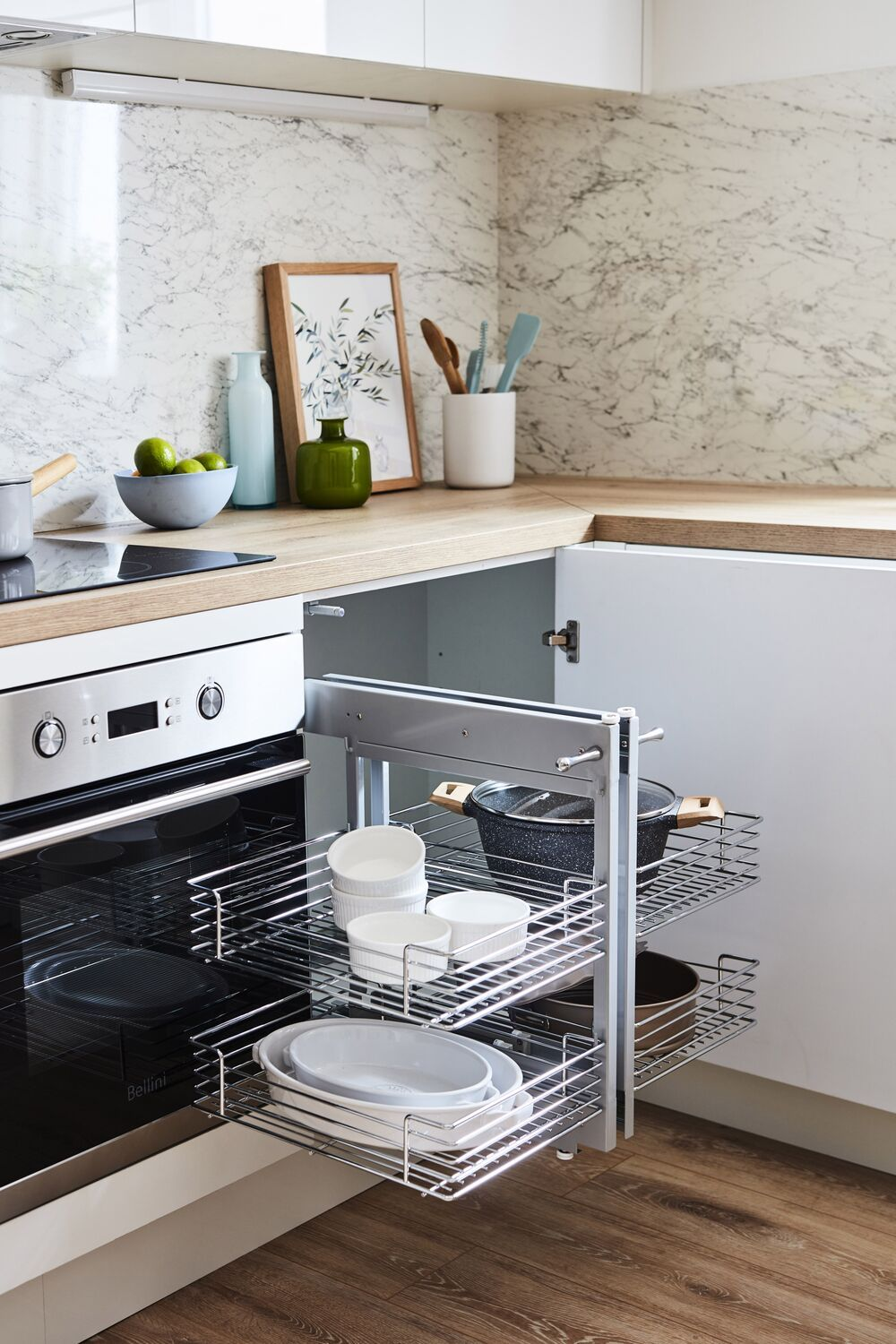 let s talk about storage our blind corner pull out basket is the perfect storage solution for on kaboodle kitchen storage id=27949