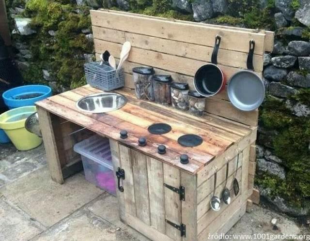 Kuchnia Blotna Mud Kitchen Pallet Furniture Outdoor Diy Furniture Made From Pallets