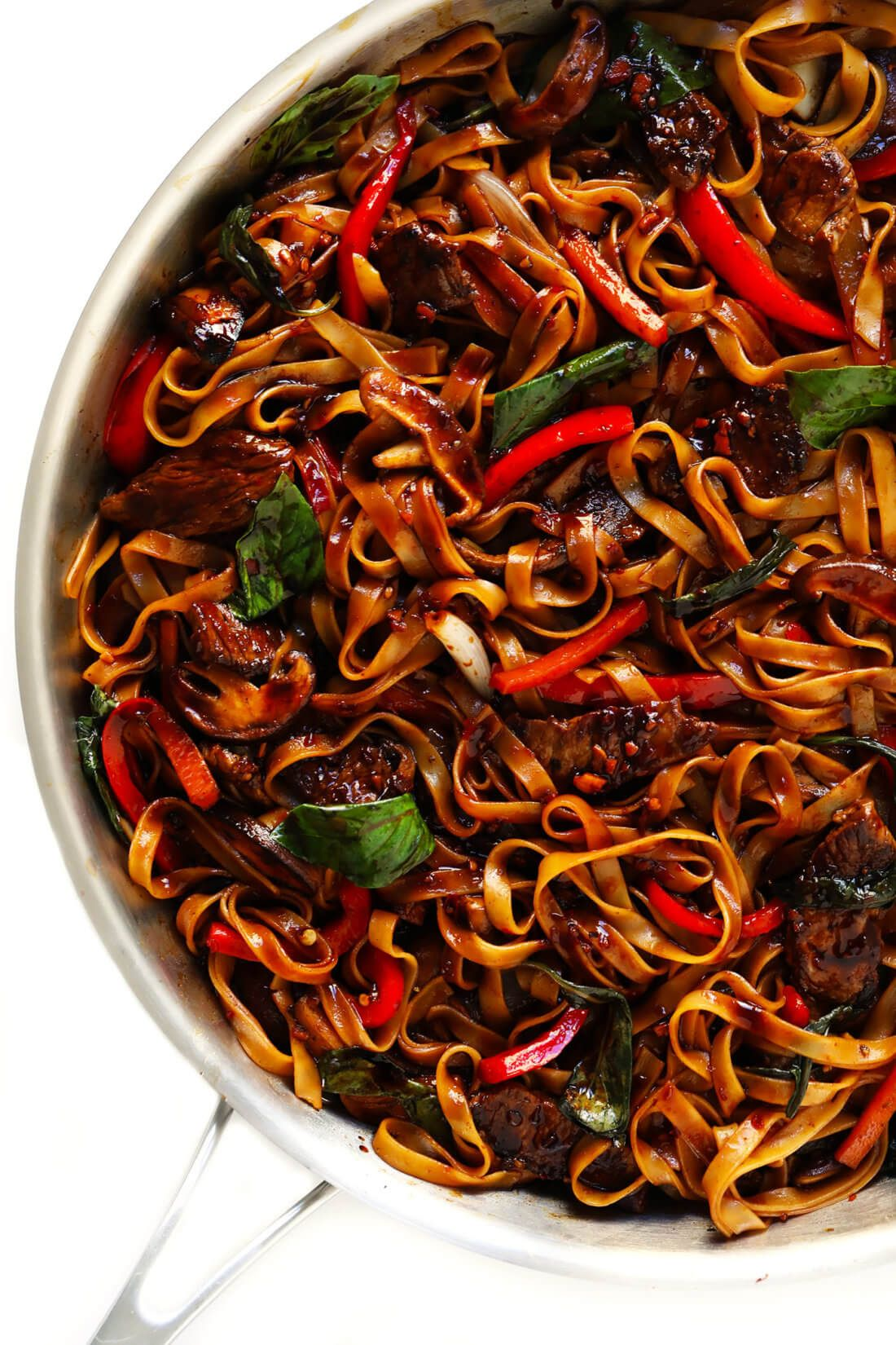 Thai Basil Beef Noodle Stir-Fry | Gimme Some Oven