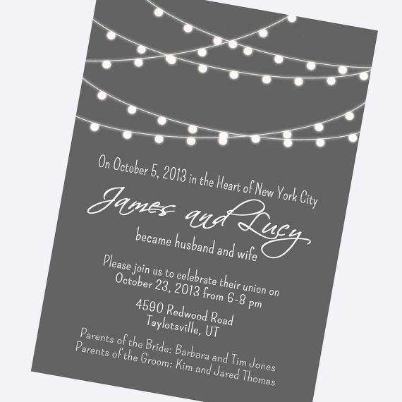 Sample Elopement Invitation Wording! Randomosity Pinterest - invitation wording for elopement party