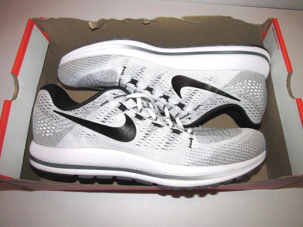 5a8fa4ecc78 Nike Air Zoom Vomero 12 TB Mens Running Shoes 14 White Black Dark Grey  Nike   RunningShoes