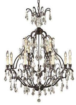 World Imports 2614 89 Timeless Elegance 8 4 Light Chandelier Bronze