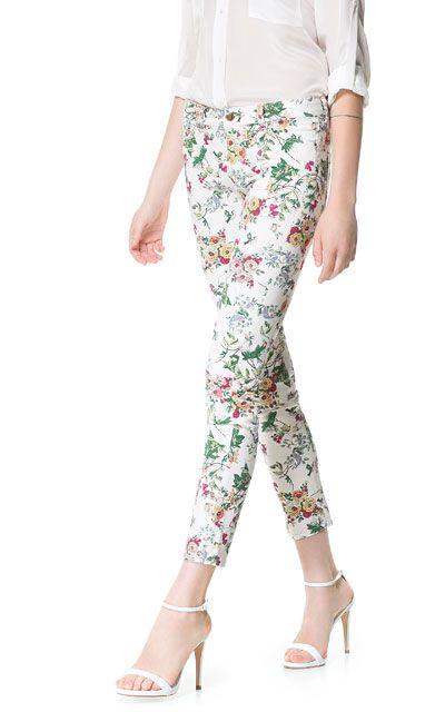 brillo de color paquete elegante y resistente último estilo de 2019 PANTALÓN ESTAMPADO - Pantalones - Mujer   ZARA España 19.95 ...