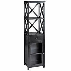 Bathroom storage! Since C&B decided to discontinue their black bathroom tower.