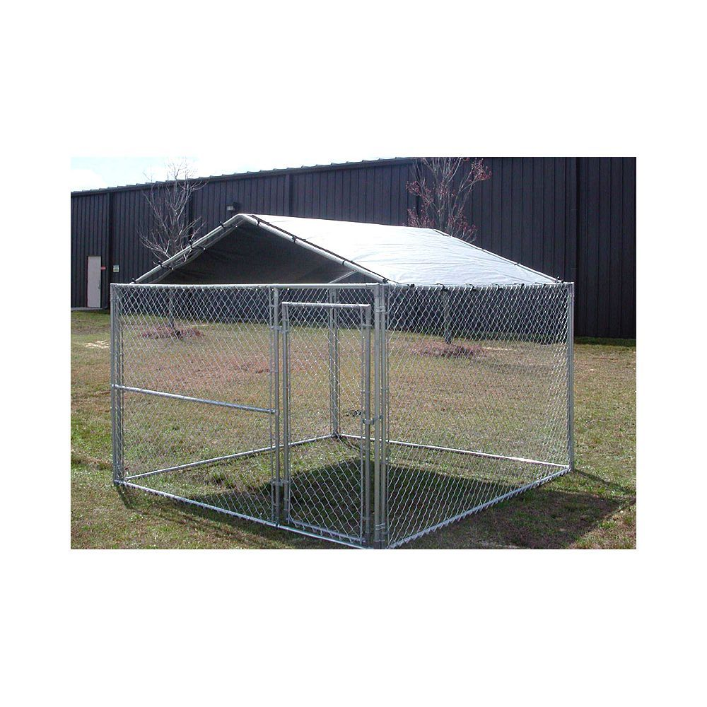 King Canopy 10 X 10 Kennel Cover Silver Clamps To Dog Kennel 26 Lbs Kennel Cover Dog Kennel Roof Dog Kennel Outdoor