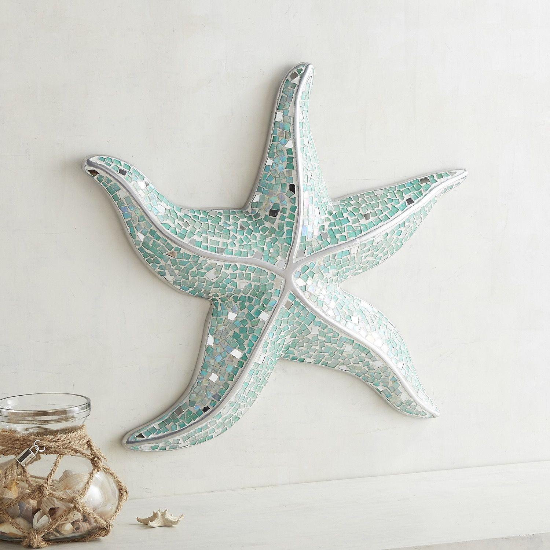 Mosaic Starfish Wall Decor