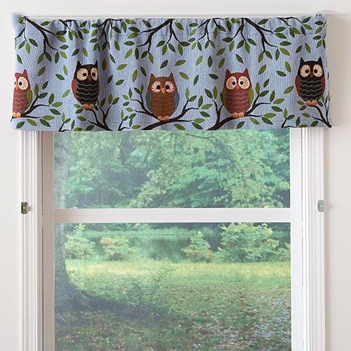 Windham Owl Quintet Tapestry Valance 54x15 Owl Kitchen Valance Box House Design