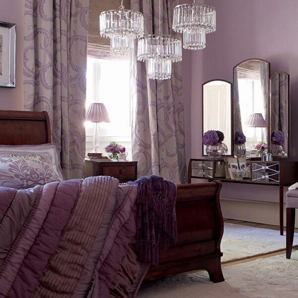 Mauve bedroom. For more inspiration visit us on Facebook at http ...