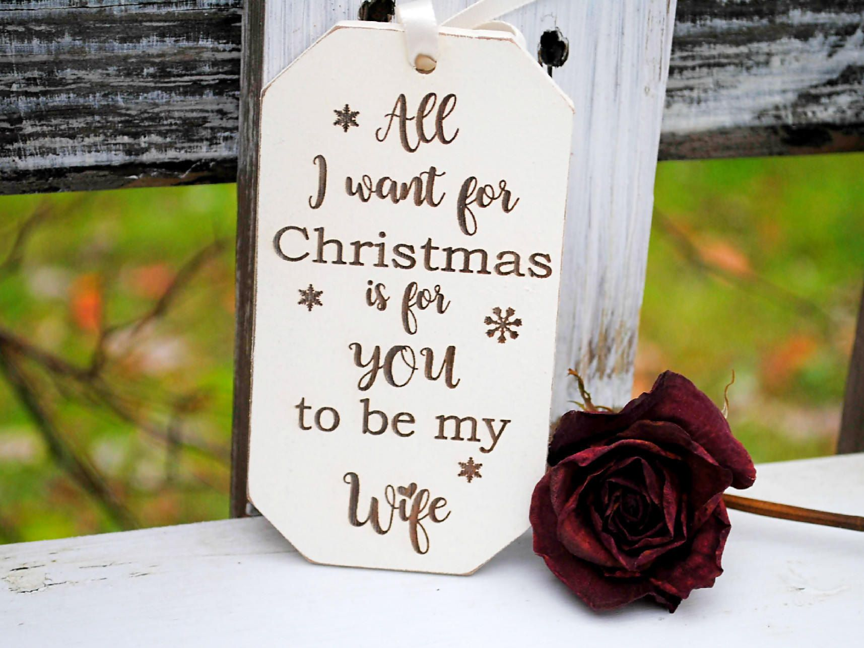 Will you marry me ornament engagement christmas ornament christmas
