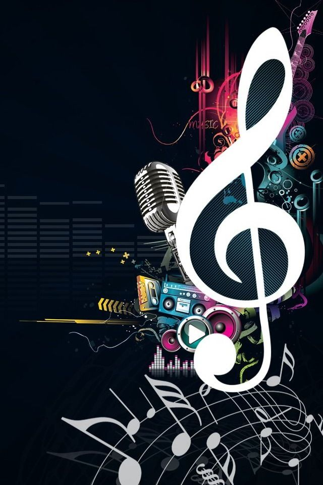 All About Music Widescreen Wallpaper Treble Clef On Black