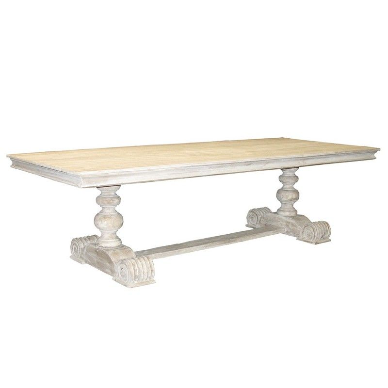 CFC Reclaimed Lumber 2 Pedestal Dining Table
