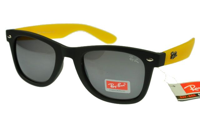 ray ban yellow frame  $14.70 save: 88% offray ban wayfarer 1878 black yellow frame gray lens rb1027