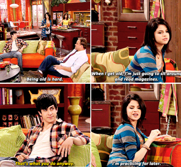 When she had a bright outlook for her future: -   24 selena gomez wizards of waverly place