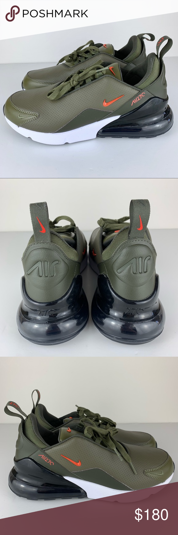 Nike Shoes | Nike Air Max 270 Premium Leather Olive Green