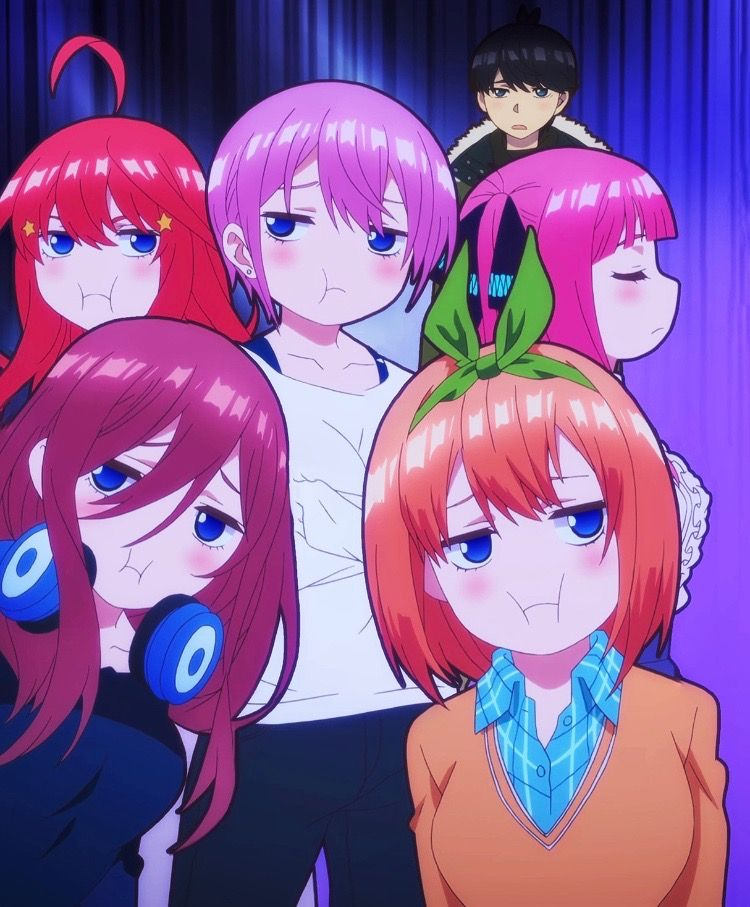 The Quintessential Quintuplets Pouty Face 5 Tōbun No Hanayome Anime Anime Lovers Kawaii Anime