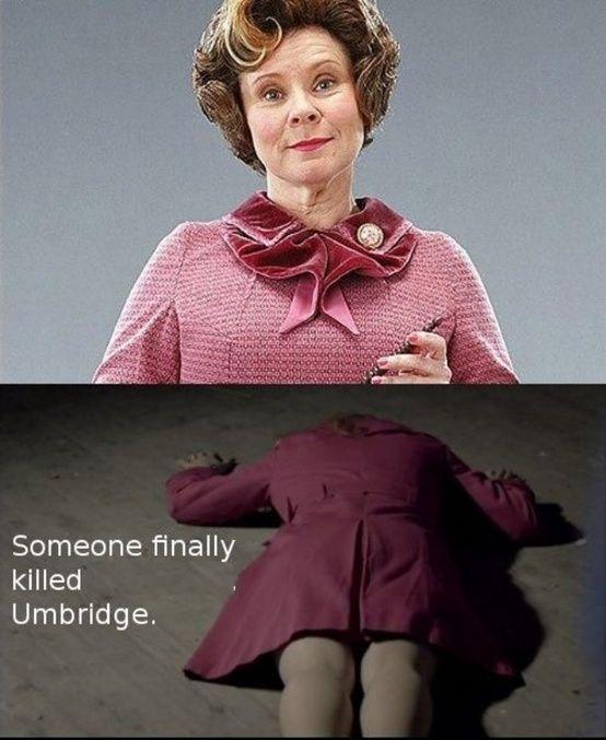 Hahahahaha Lady In Scarlet Is Umbridge A Study In Pink Sherlock Harry Potter Fantastic Beasts