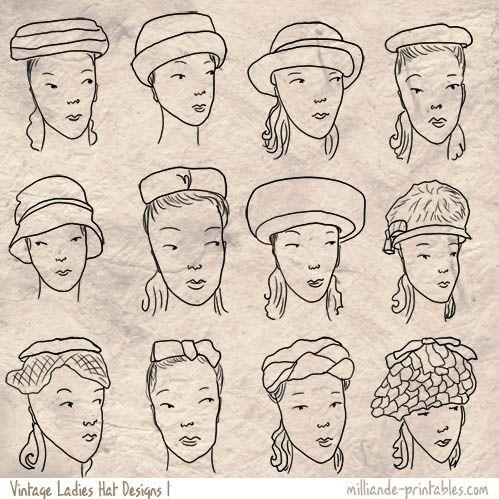 Vintage Ladies Hat Designs Vintage Ladies Hats Vintage Hat Styles To Print Vintage Ladies Hats Vintage Hat Designs