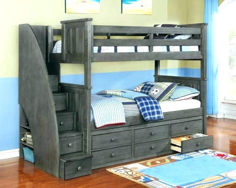 lit superpose avec escalier lit