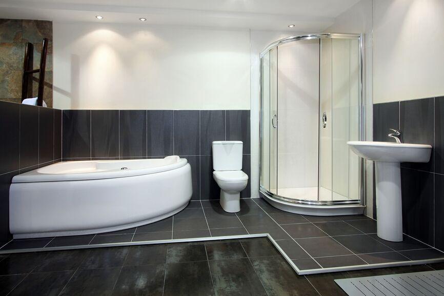 Simple Bathroom Designs Half Wall Small Master Makeover Ideas