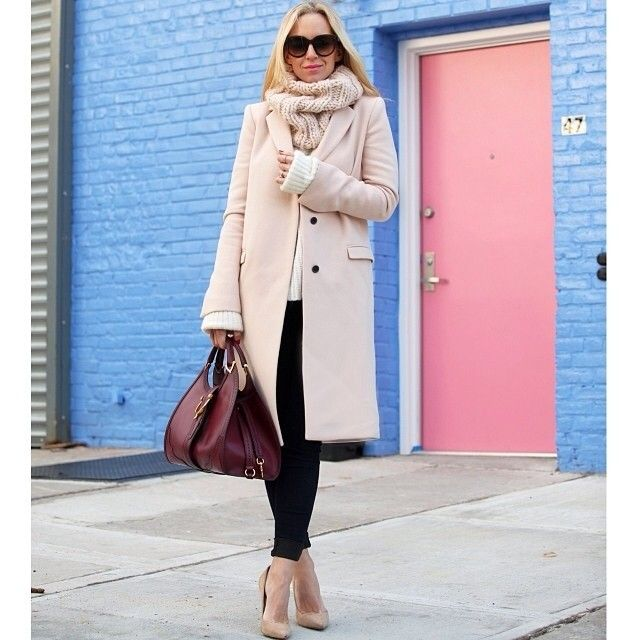 Winter pastels from Contributor @Gretchen Metzger! #streetstyle #style #fashion #Padgram