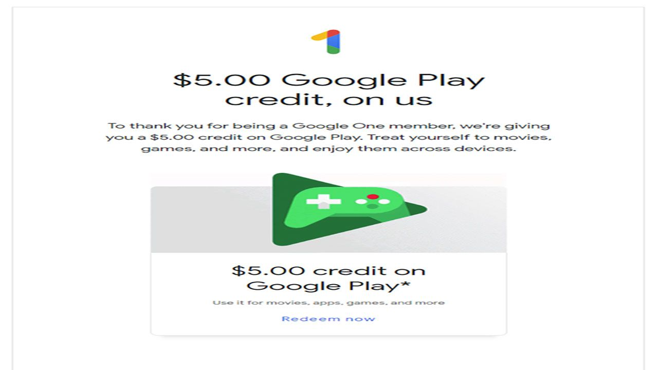 Get 5 Coupon Play Store For Subscribers For Google One Google Play Subscribe