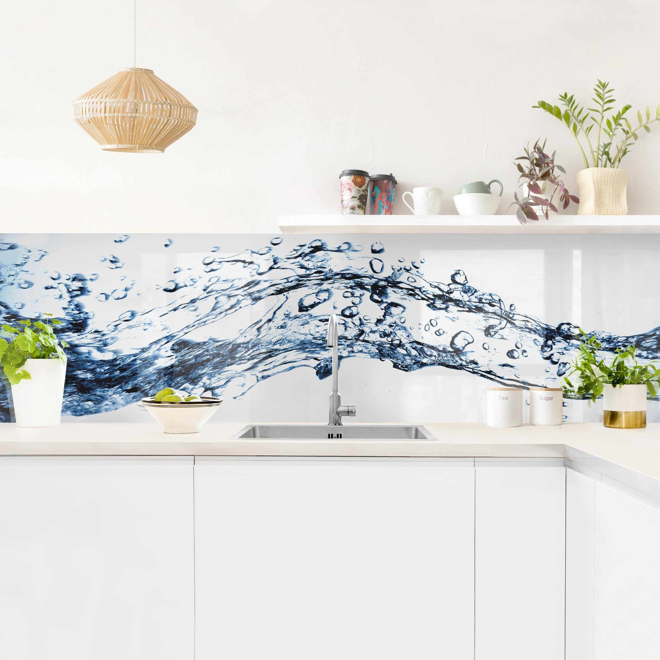 Kuchenruckwand Water Splash In 2020 Kuchenruckwand Haus Deko