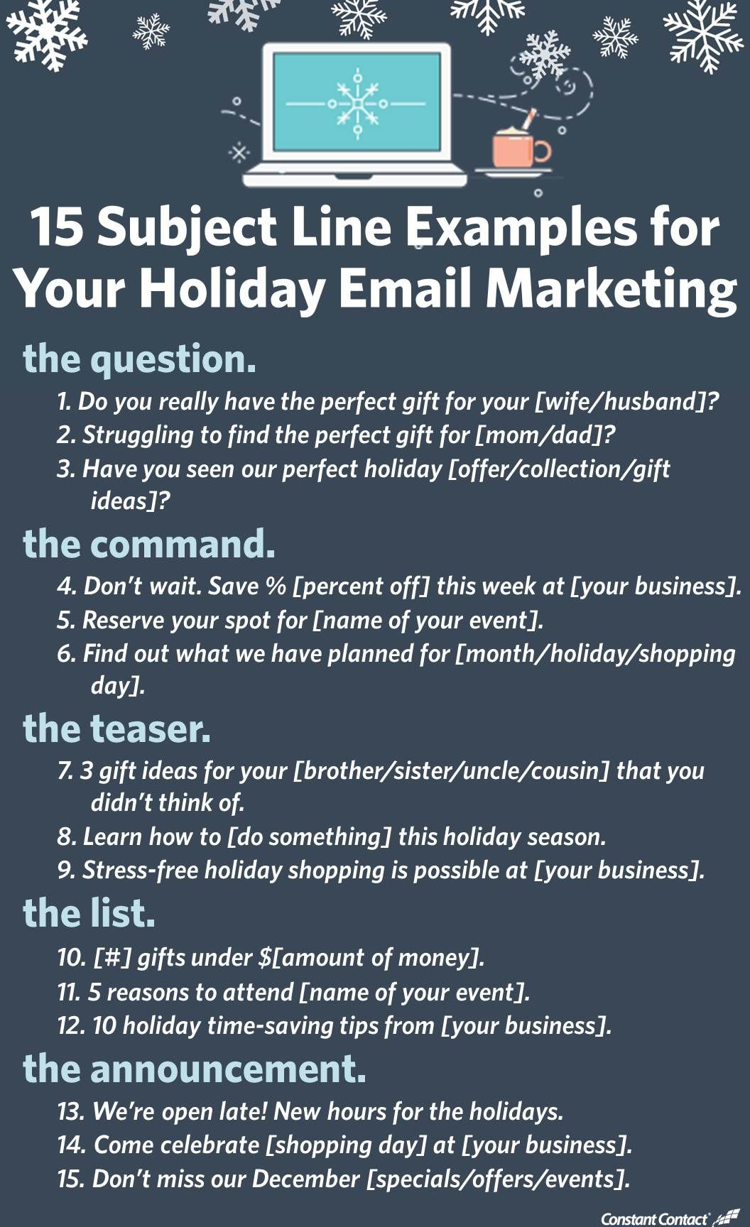 15 Subject Line Examples For Your Email Marketing Email Marketing