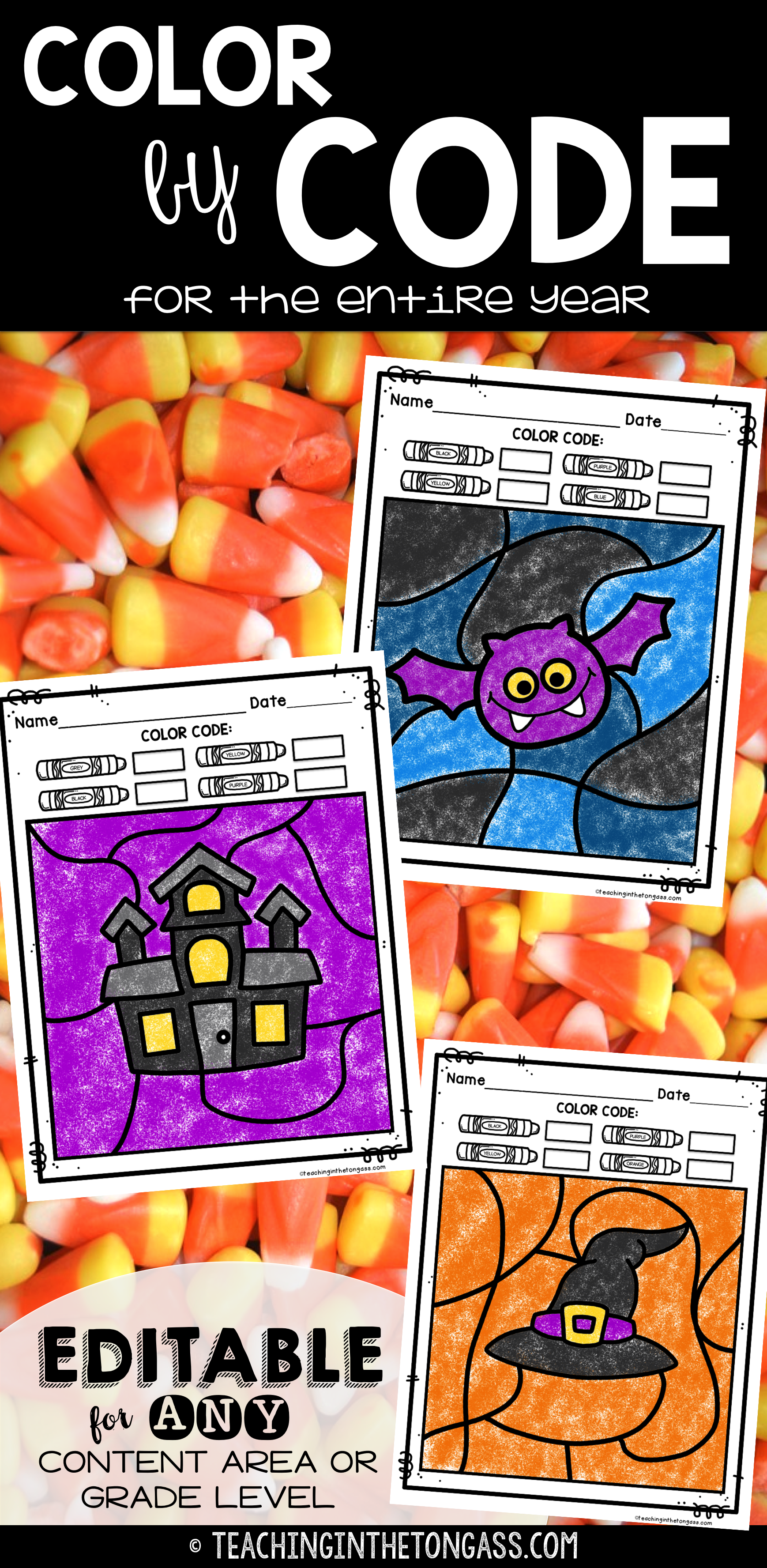 editable color by code bundle thanksgiving coloring pages and