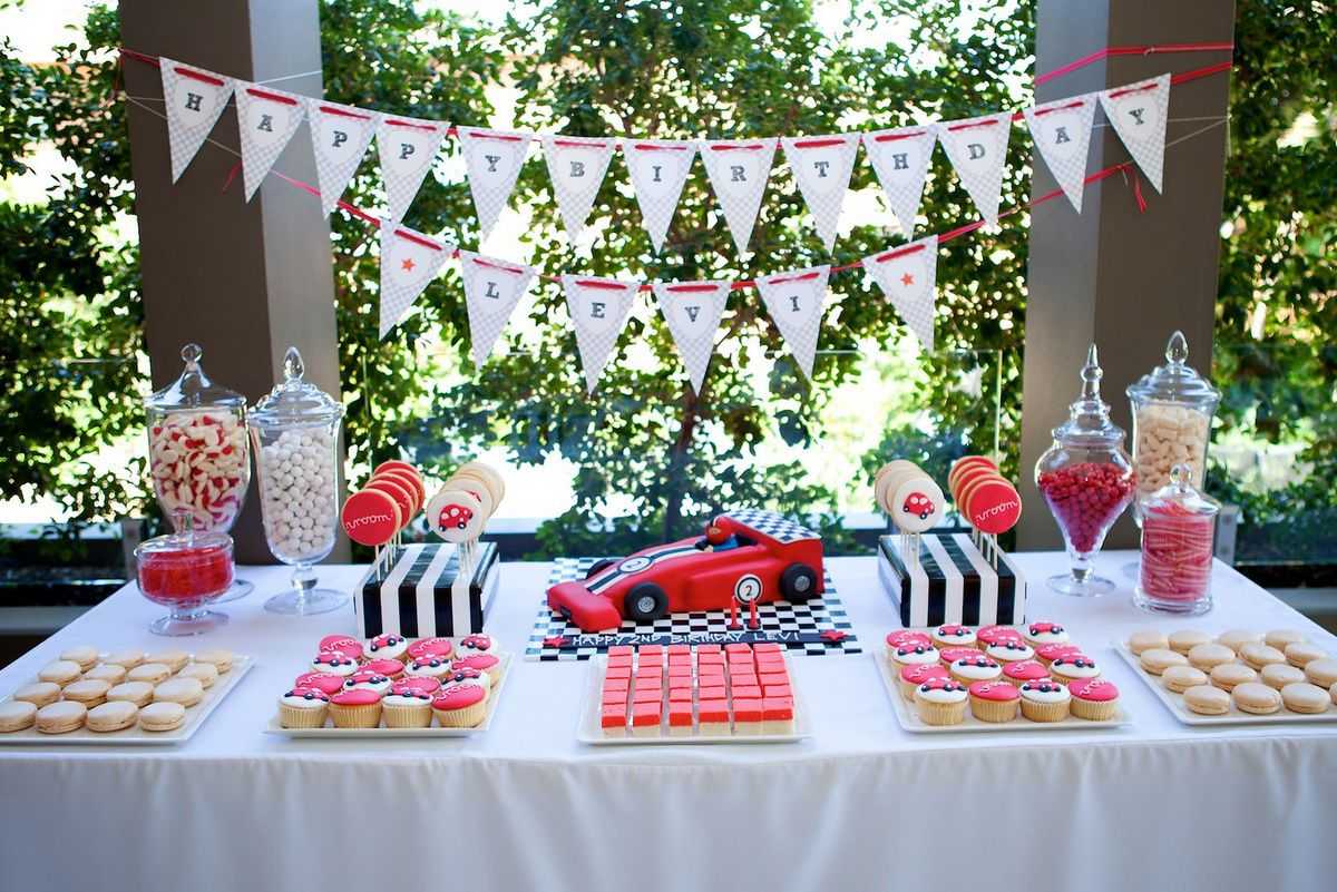 racing car dessert table munchkin tables kids party hire sydney 0411 641 350