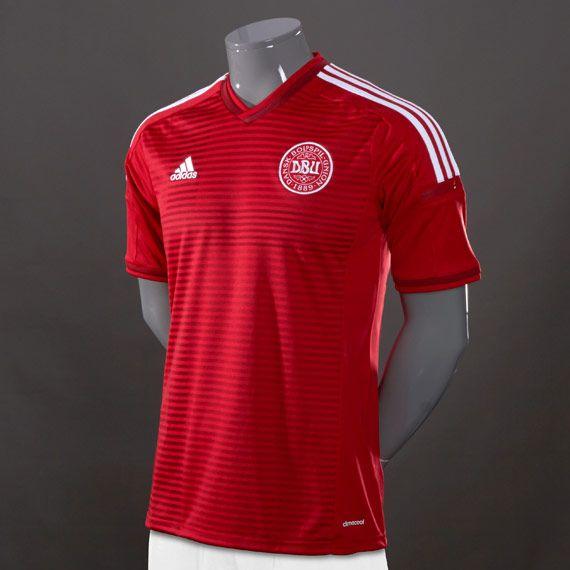 adidas DBU Denmark Home Jersey - Red/Red/White