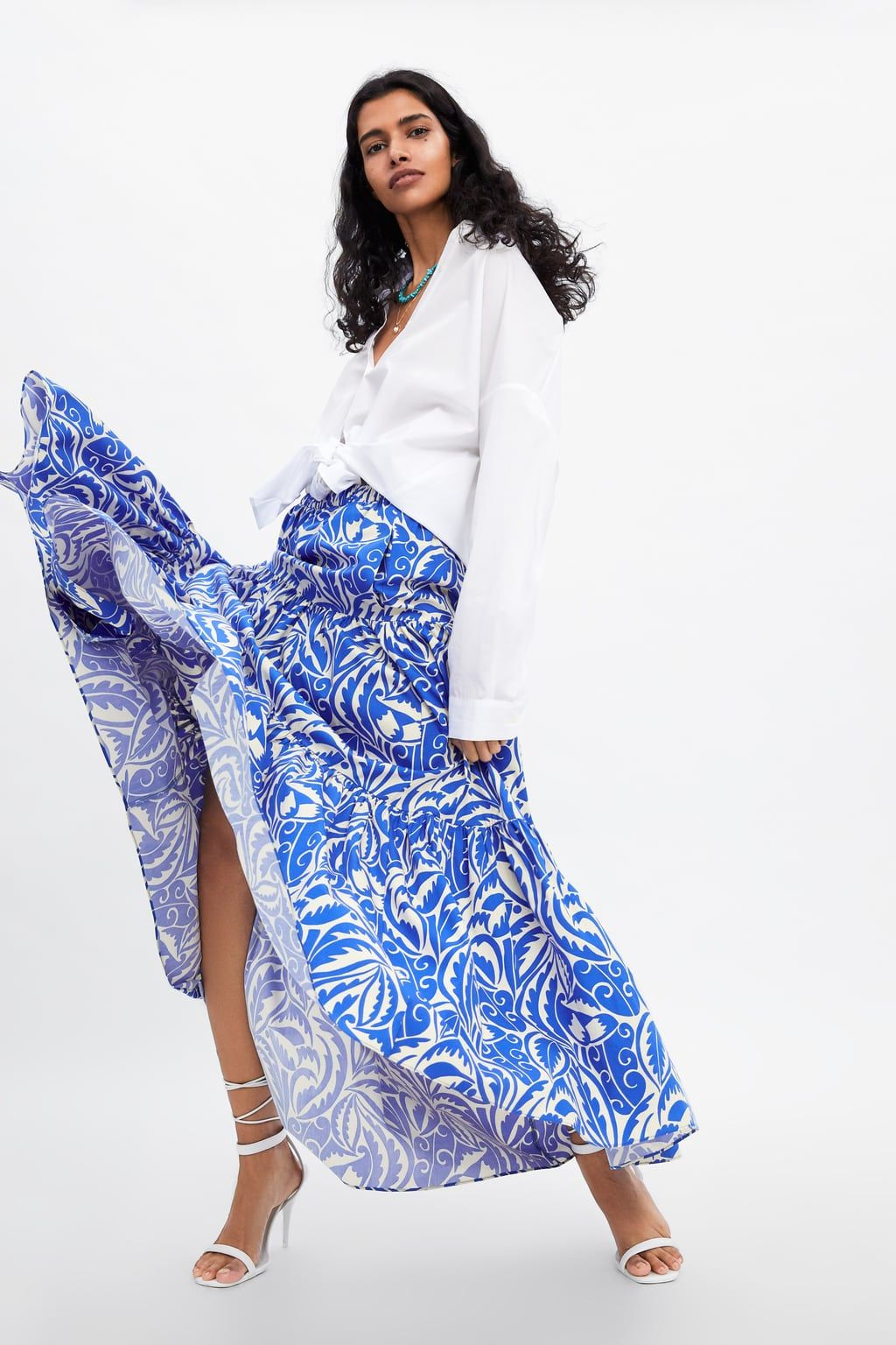 dfc4cc997 Faldas Largas Blancas Zara | Wig Elegance