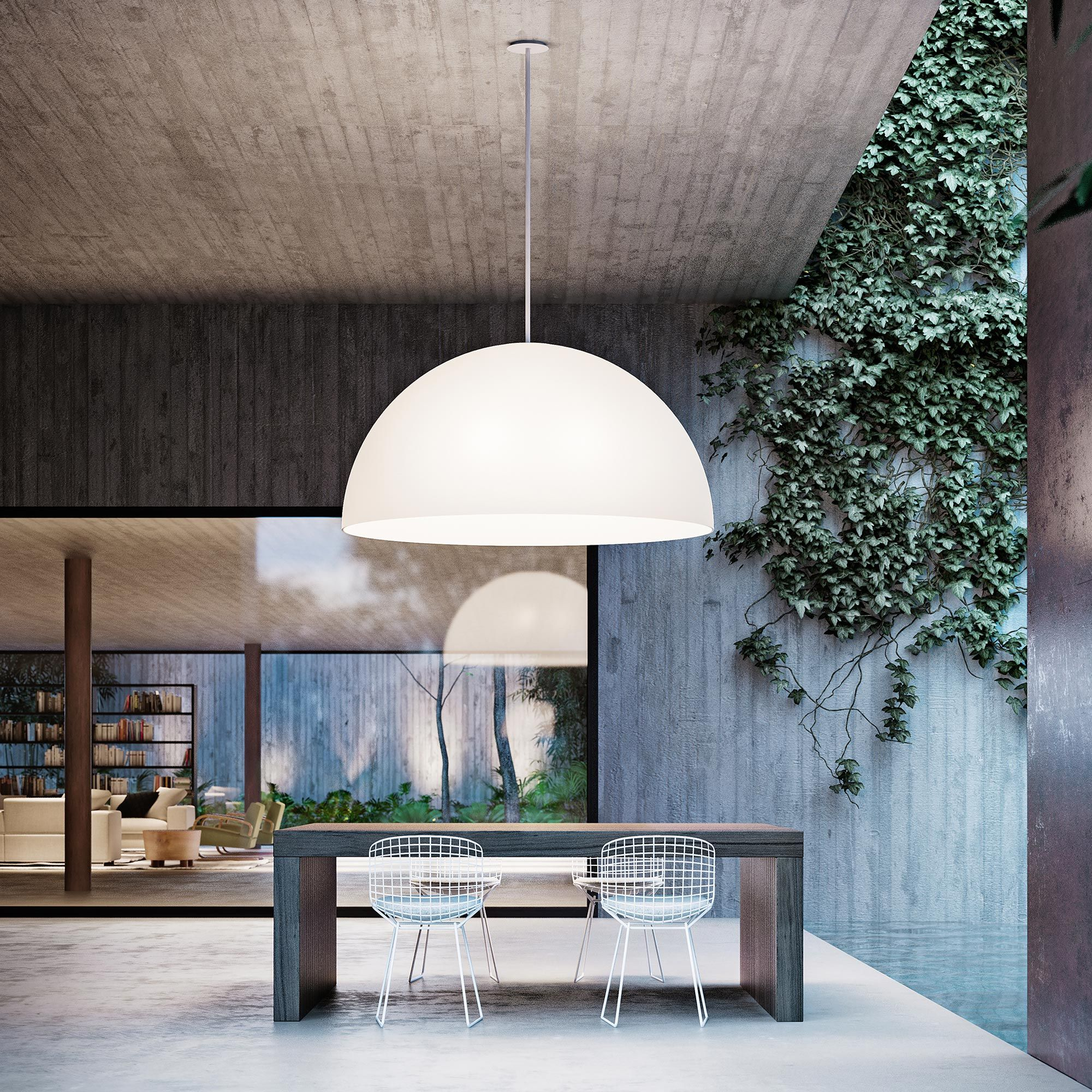 Extra-large Semispherical Shape For This Outdoor Hanging