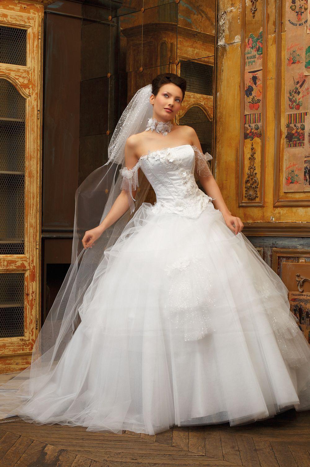 lace corset wedding dress Eli Shay Wedding Dress Collections Coliseum White Calais lace corset trimmed with appliques