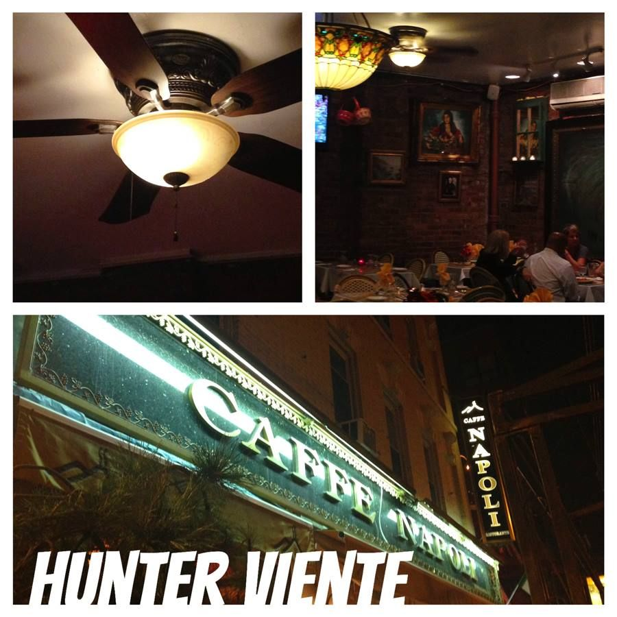 Hunter Viente Ceiling Fan Spotted At Caffe Napoli In Nyc Littleitaly Hunterfan
