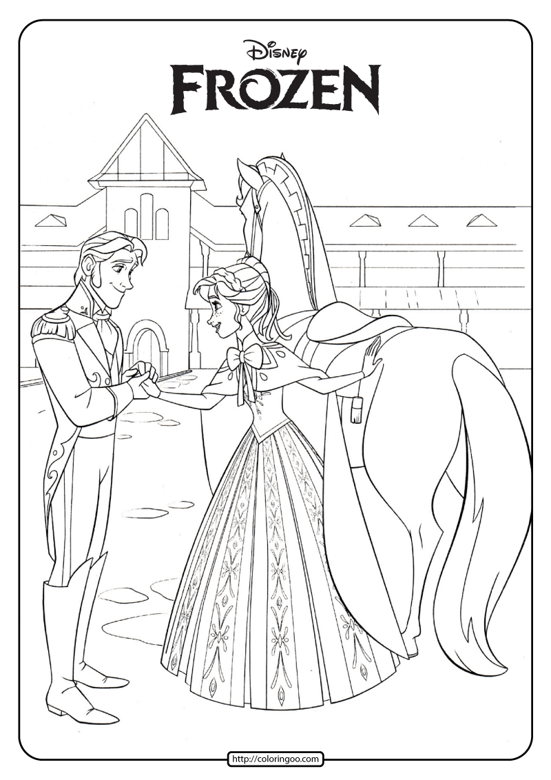 Disney Frozen Anna And Hans Coloring Pages 02 Frozen Coloring Pages Frozen Coloring Disney Coloring Pages