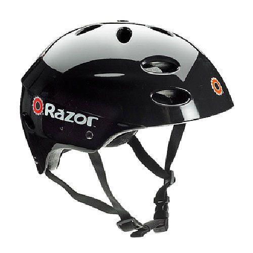 "Razor V17 Child Helmet - Gloss Black - USA Helmet - Toys ""R"" Us"
