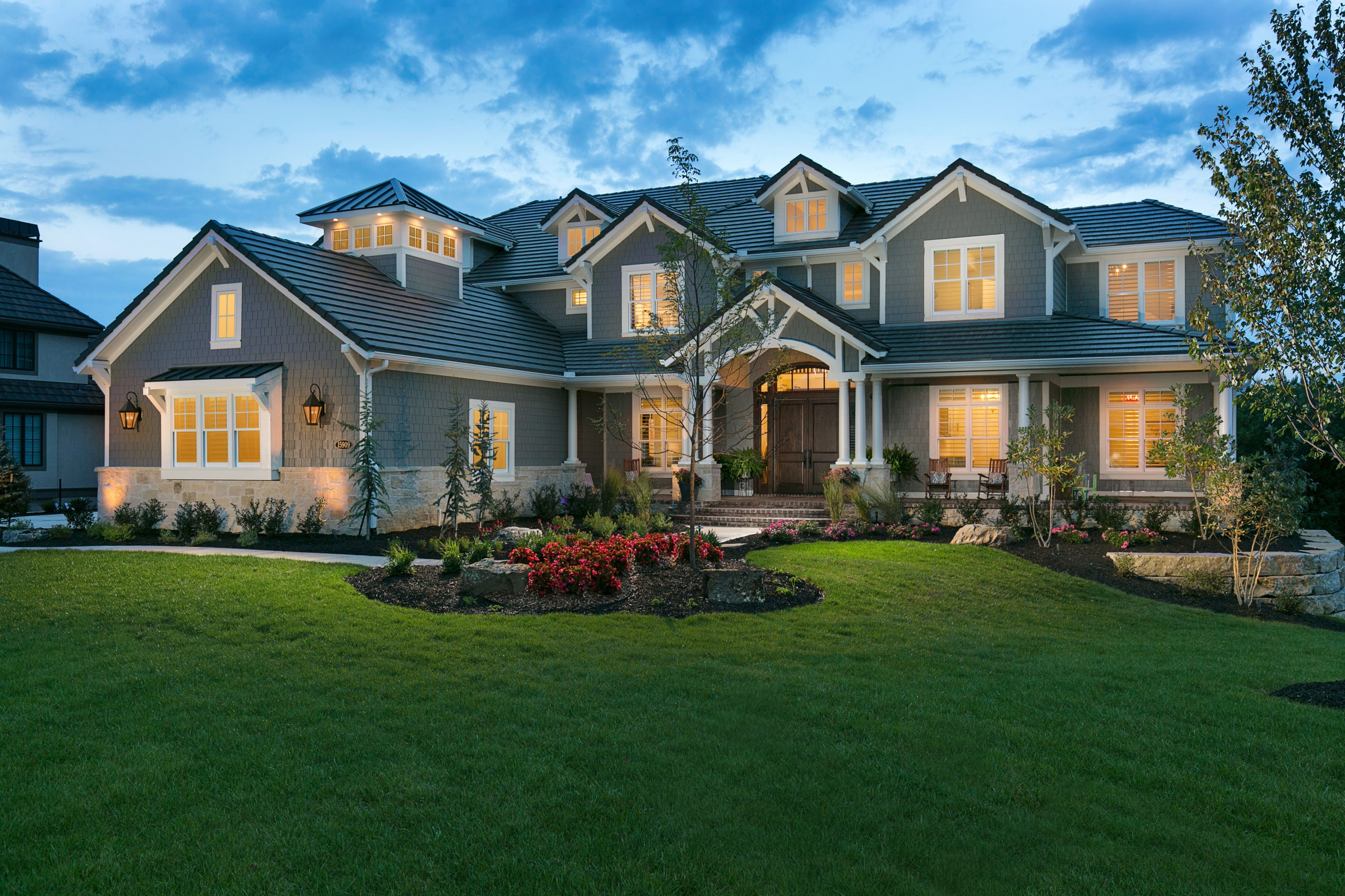 Front Exterior Nantucket Style Brick Front Porch Nantucket Style Homes House Plans Mansion Dream House Exterior