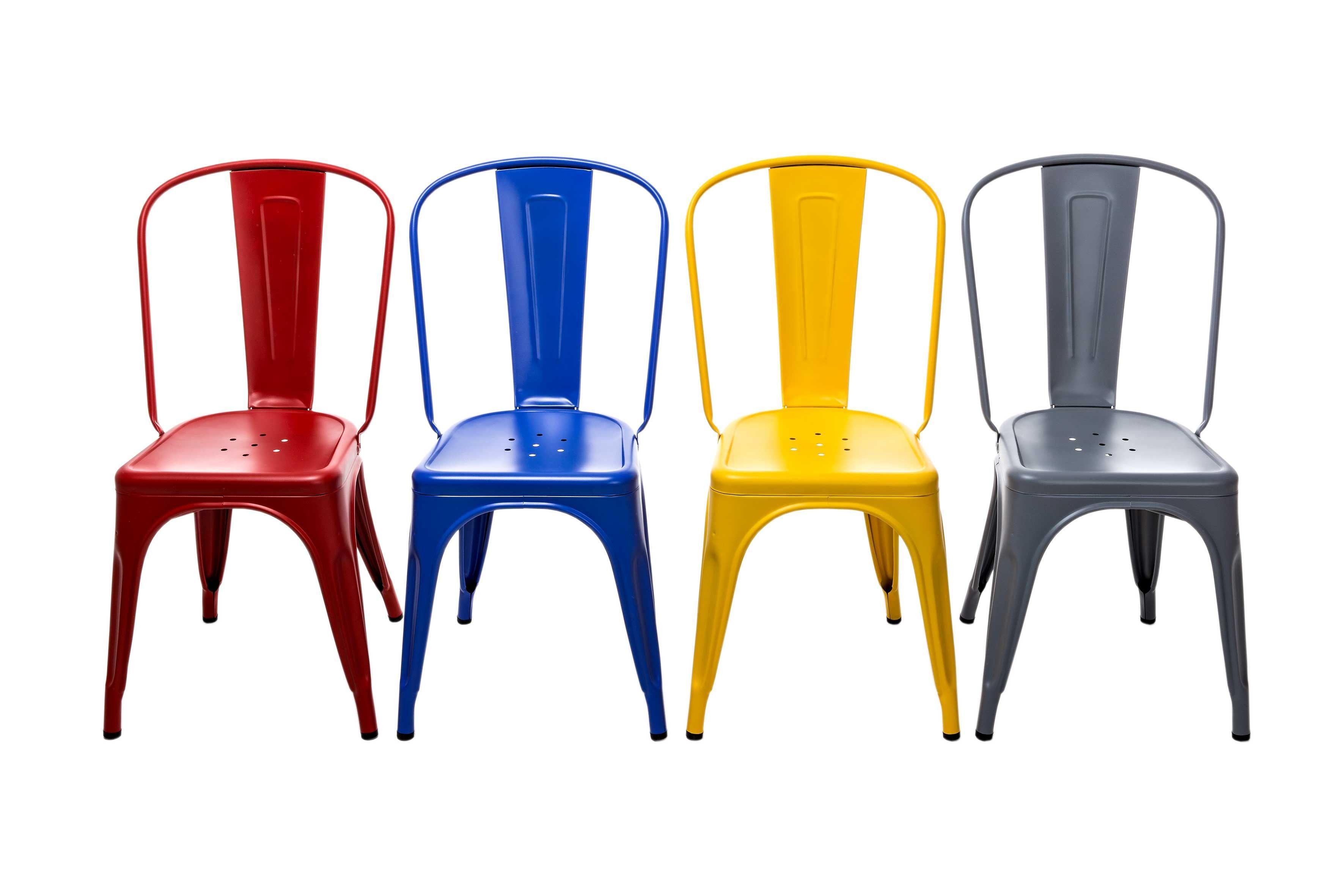 étonnant chaise metal couleur