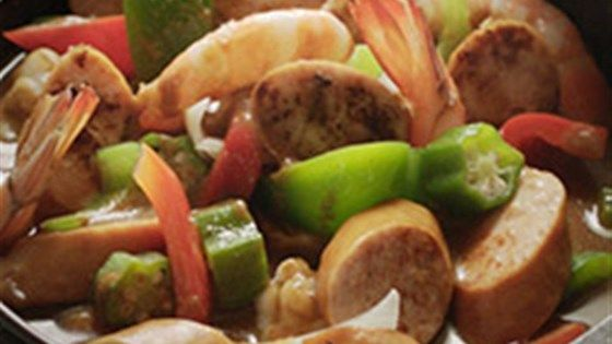 Sausage and Shrimp Gumbo #cajundishes