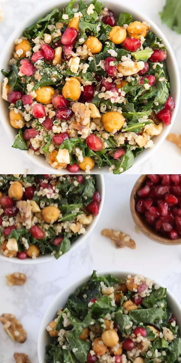 Photo of Kale Quinoa Salad with Pomegranate