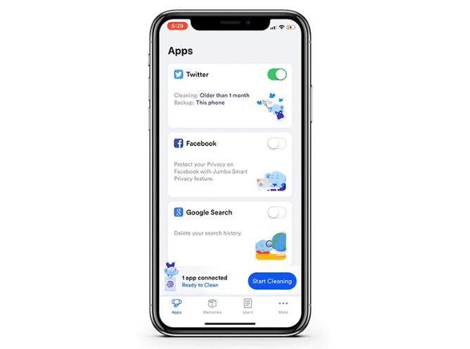 تطبيق Jumbo الجديد عبارة عن مساعد قوي للخصوصية على Ios Start Cleaning Phone Samsung Galaxy Phone