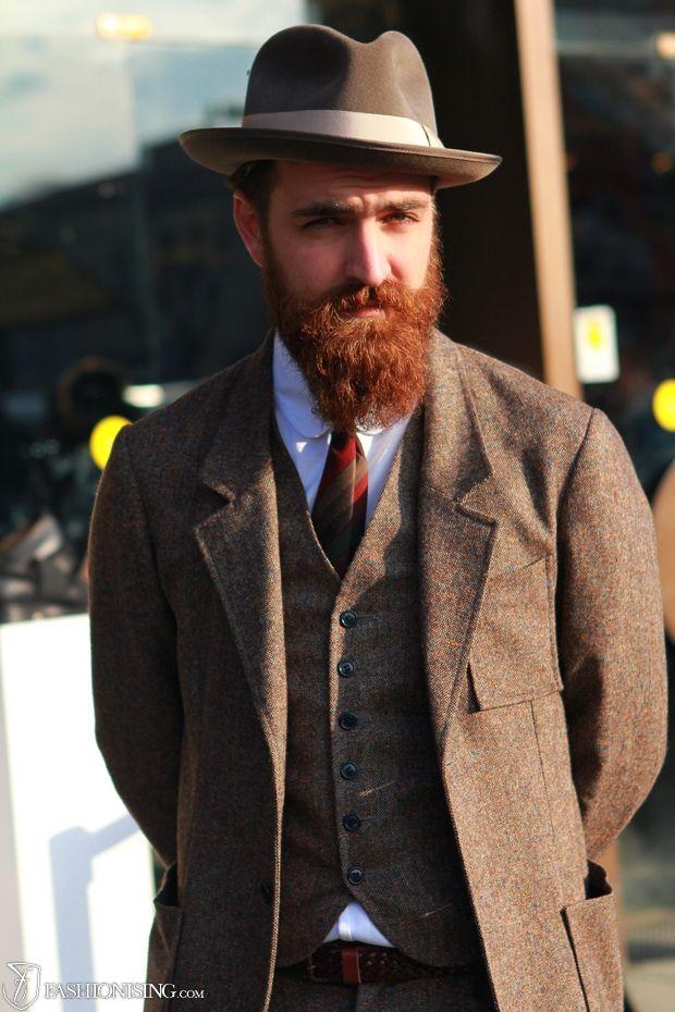 red beard brown suit  11522949acda