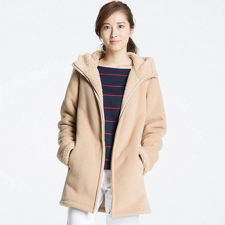 d39b34177e Women pile-lined fleece long sleeve coat | wish list | Coat, Jackets ...