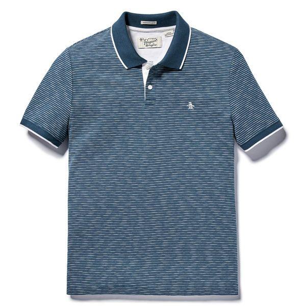 ORIGINAL PENGUIN Boys Printed Jersey Slub Polo Shirt