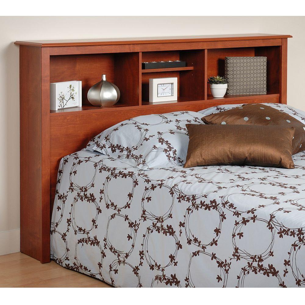 Prepac Full/Queen Bookcase Headboard, Brown Bookcase