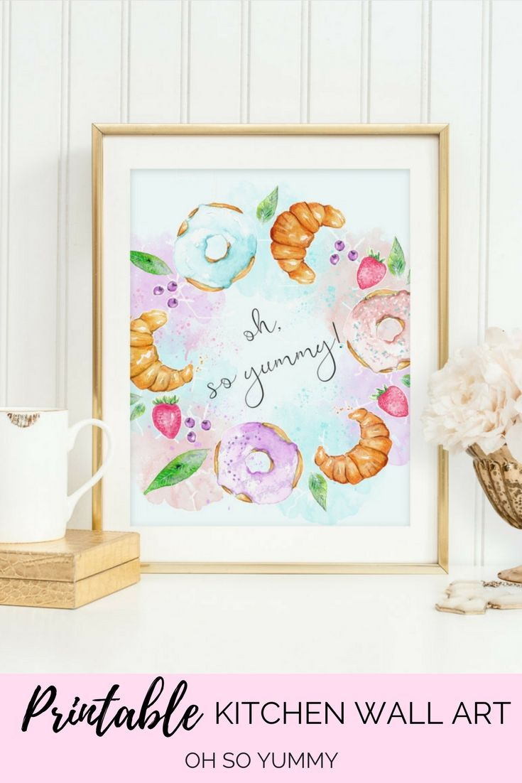 Oh So Cute!! Kitchen Dessert Print Instant Download Watercolor ...