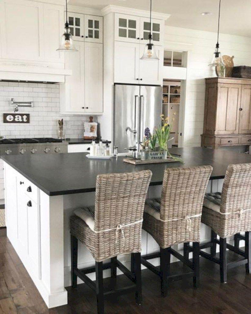 Incredible farmhouse gray kitchen design ideas 42