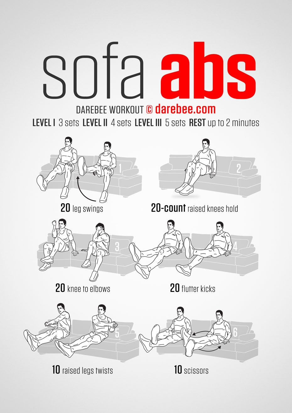 Sofa abs workout workout pinterest workout for Chair workouts