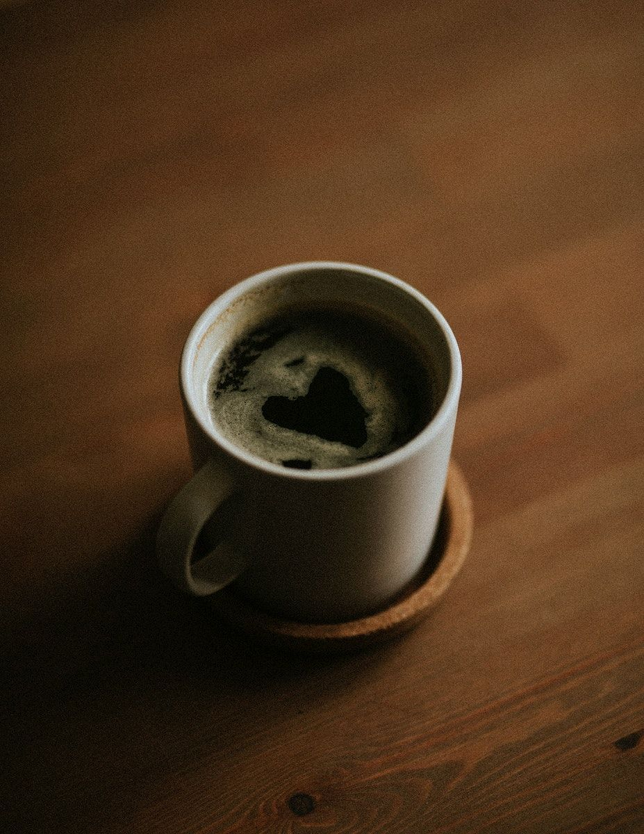 Download free image of Finding a heart in the morning coffee cup 2332466